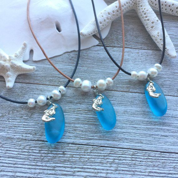 Gorgeous Blue Sea Gl Necklace Will Bring Back Memories Of