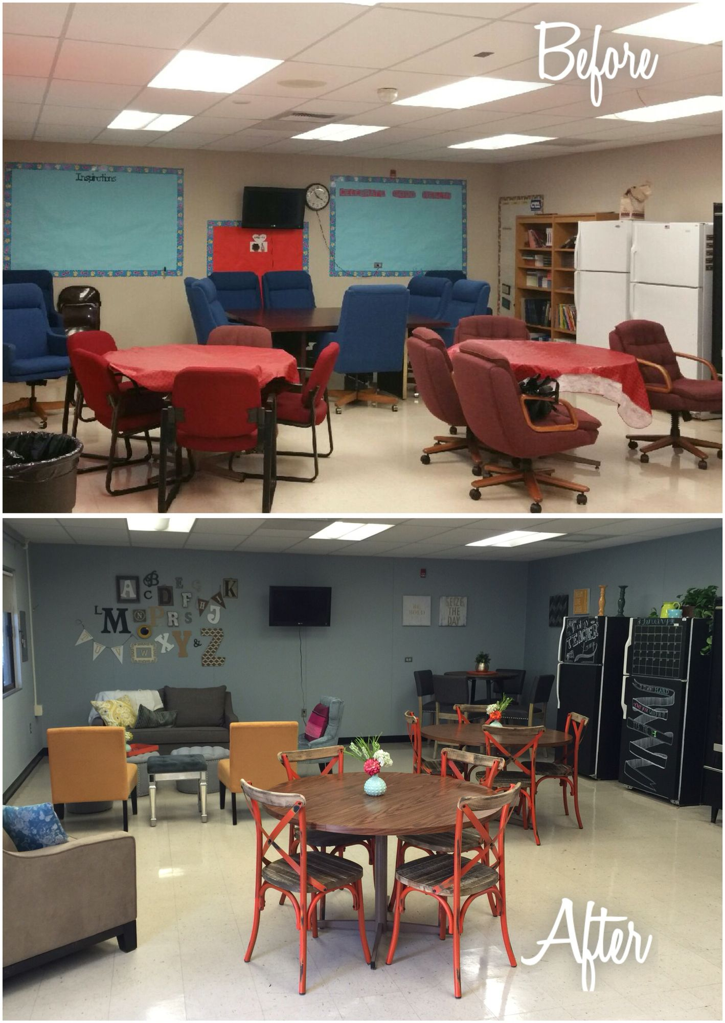 teachers lounge makeover teacher lounge teach rh pinterest com