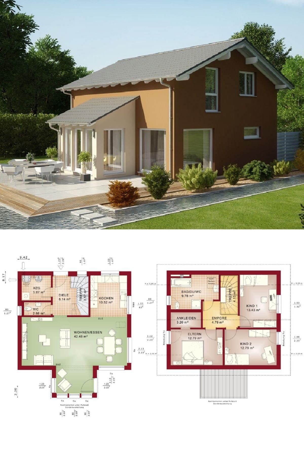 Anbau Erker einfamilienhaus satteldach modern mit erker anbau grundriss haus