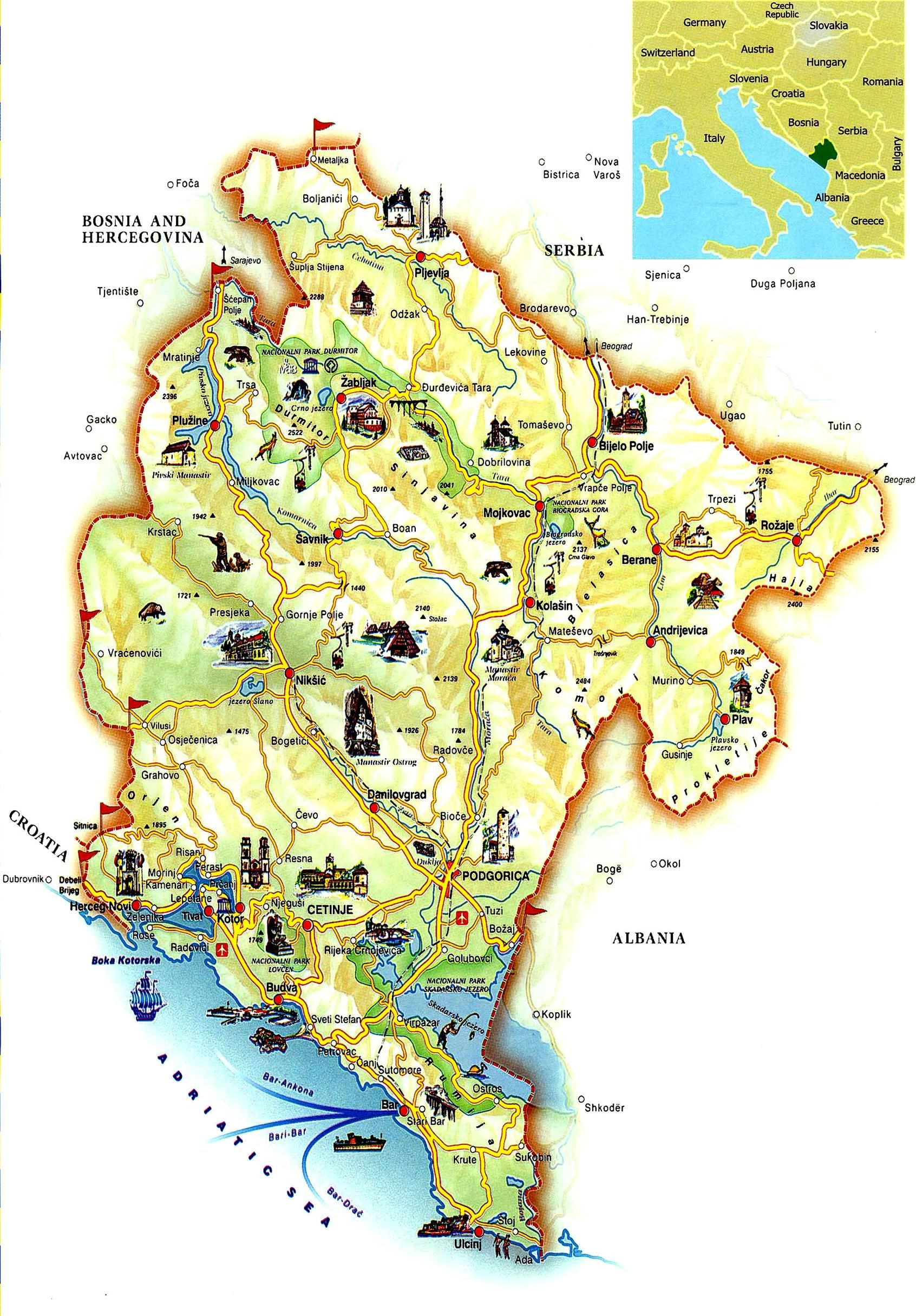 Pin by Mountaineering Club Oblun on Montenegro Map Pinterest