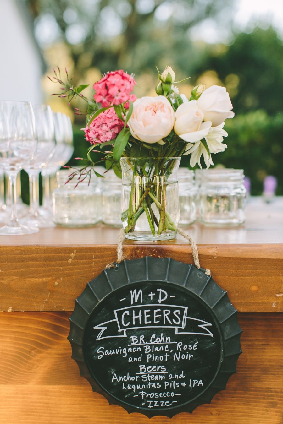 Rustic blush and blue wine country wedding event venues