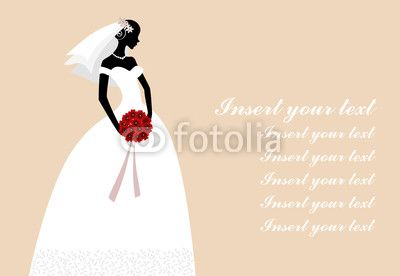 Bride Card Invitation Vector Illustration