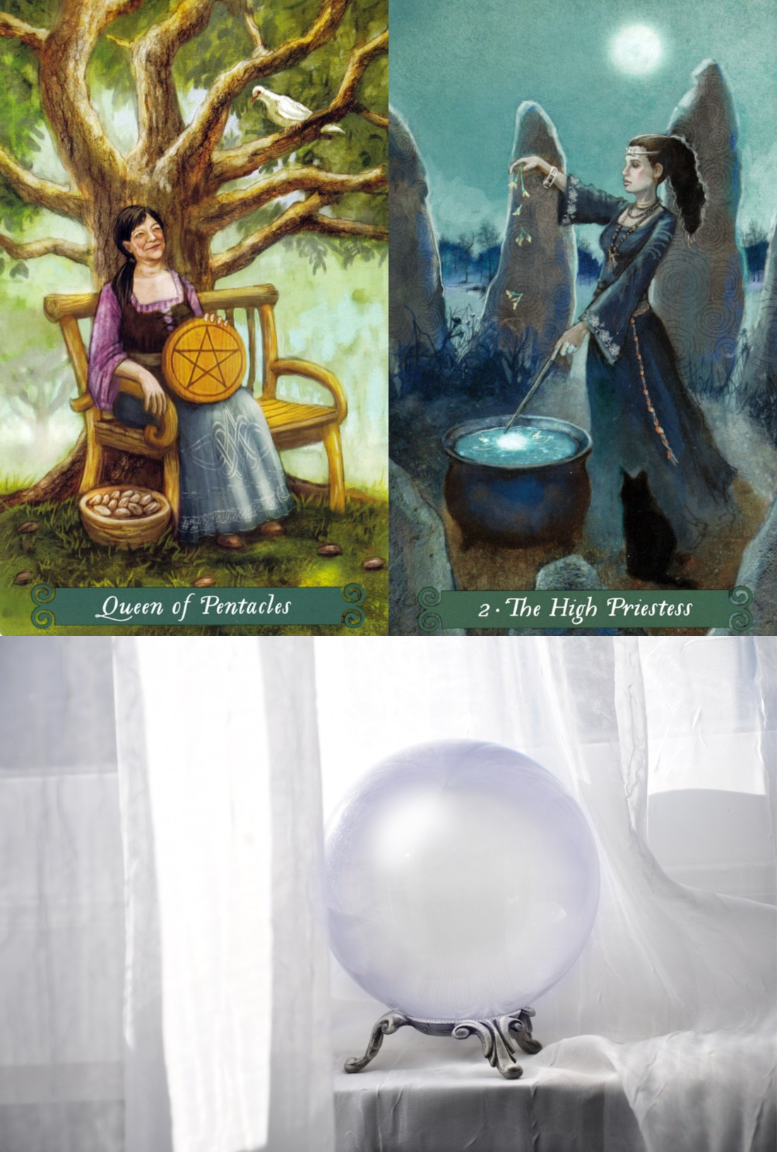 tarot card spread online, get a free tarot reading and ask