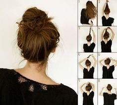 Tutoriel coiffure, le chignon facile et rapide.