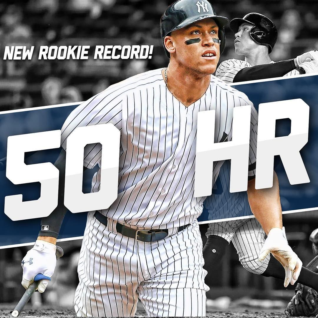 Number 50 For Aaron Judge Allrise New York Yankees Baseball New York Yankees Yankees Baseball