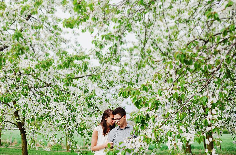 love shoot couple in love blossom   copyright Hanke Arkenbout Photography