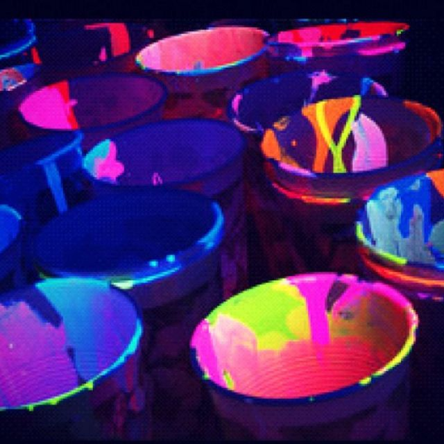 Neon Glow In The Dark Paint Party Paint Party Glow Party Neon Party