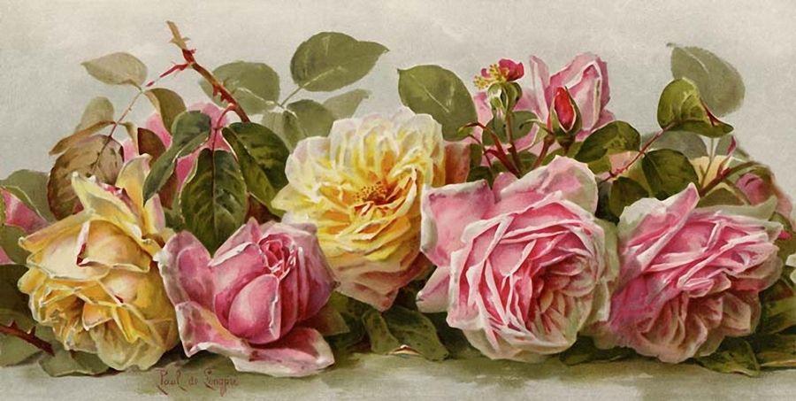 Art Print of Vintage Art Summer Fragrance by Paul de Longpre