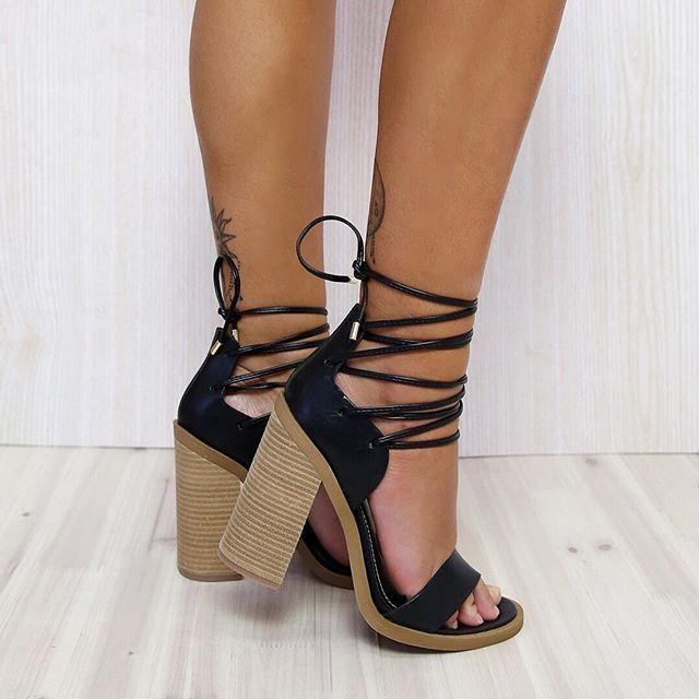 Cream Patent Leather Strappy Sandals Shoes Platform Very High Wooden Heels