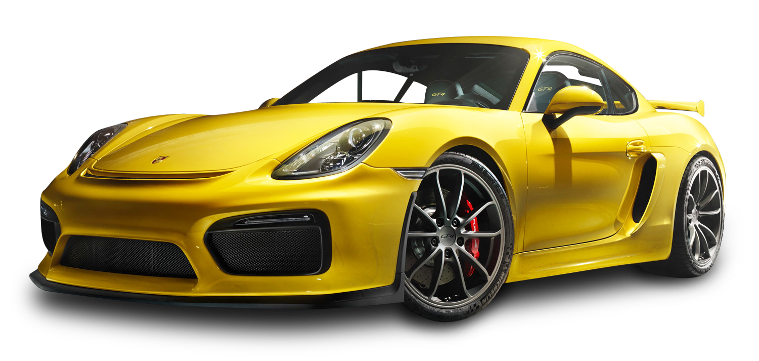 Porsche Cayman Gt4 Yellow Car Png Image Yellow Car Vintage Cars Cool Old Cars