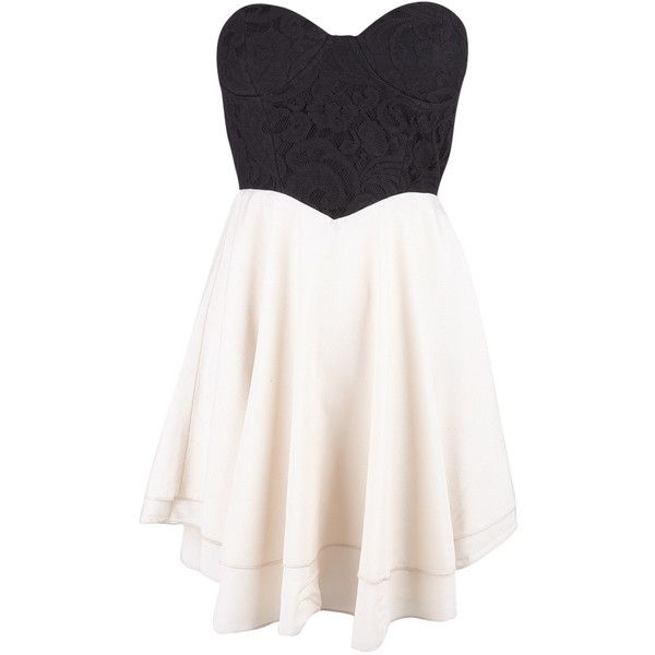 Beige Lace Corset Bustier Dress (230 SEK) ❤ liked on Polyvore featuring dresses, vestidos, robe, short dresses, white skater skirt, corset bustier, lace cocktail dress, white lace cocktail dress and lace mini dress