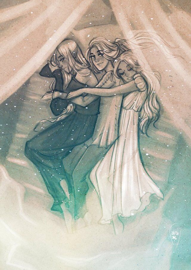 Feyre Nesta And Elain By Alexielapril A Court Of Wings And Ruin
