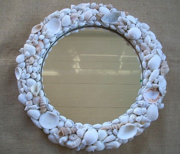 decorating mirrors with shells | round shell was working if you would like the shellmay