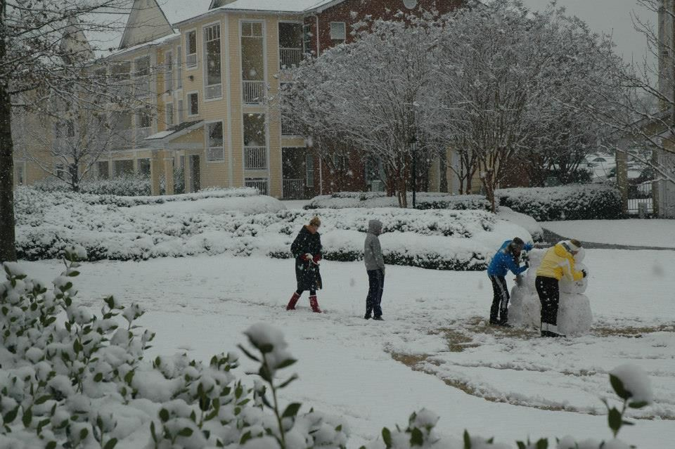 Winter storm making its presence known on our main campus