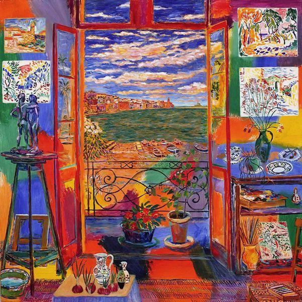 Matisse's Studio in Collioure Painted by Damian Elwes