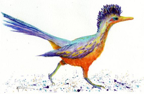 Bird Entrance Original Watercolor
