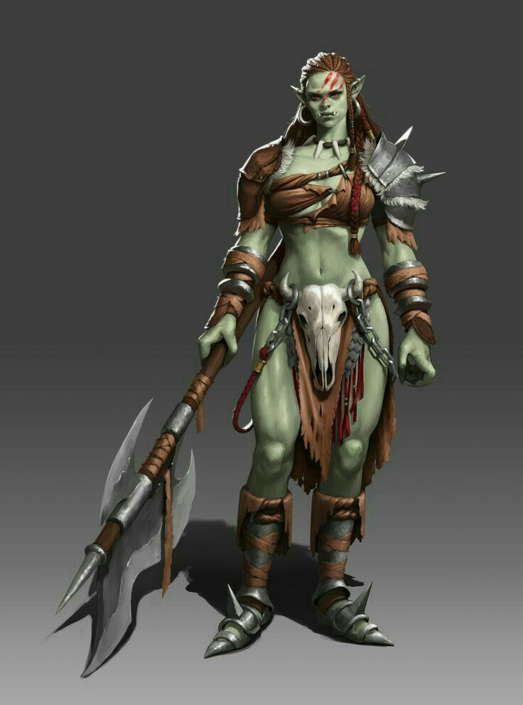 Barbarian Female Orc Female Orc Female Half Orc Half Orc Barbarian Changes female orc player character to use female idle and walk animation, and use human player voice. barbarian female orc female orc