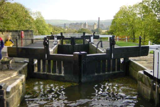 The Top Lock Of The Five Rise Staircase Locks Looking East
