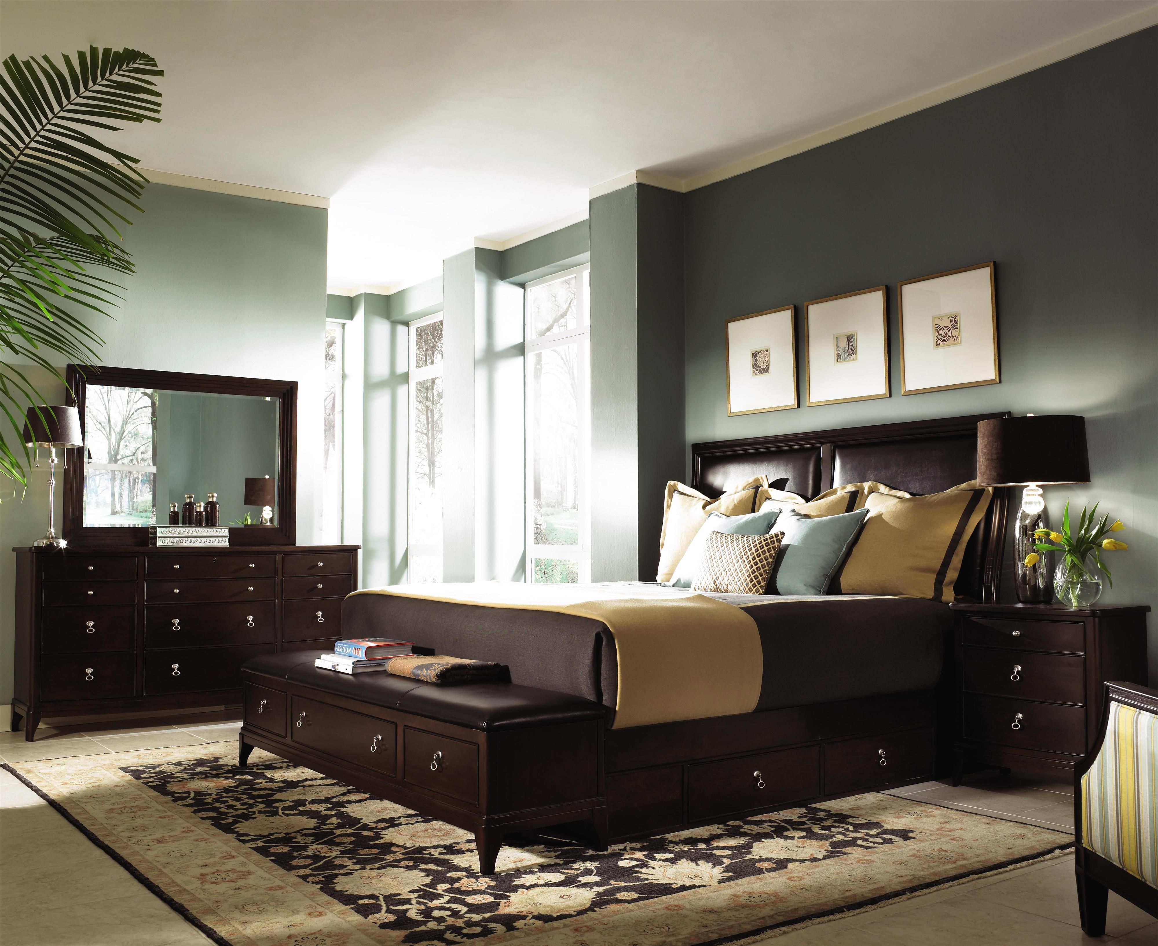 Alston Queen Bed With Underbed Footboard Bench Storage By Kincaid Furniture Becker World