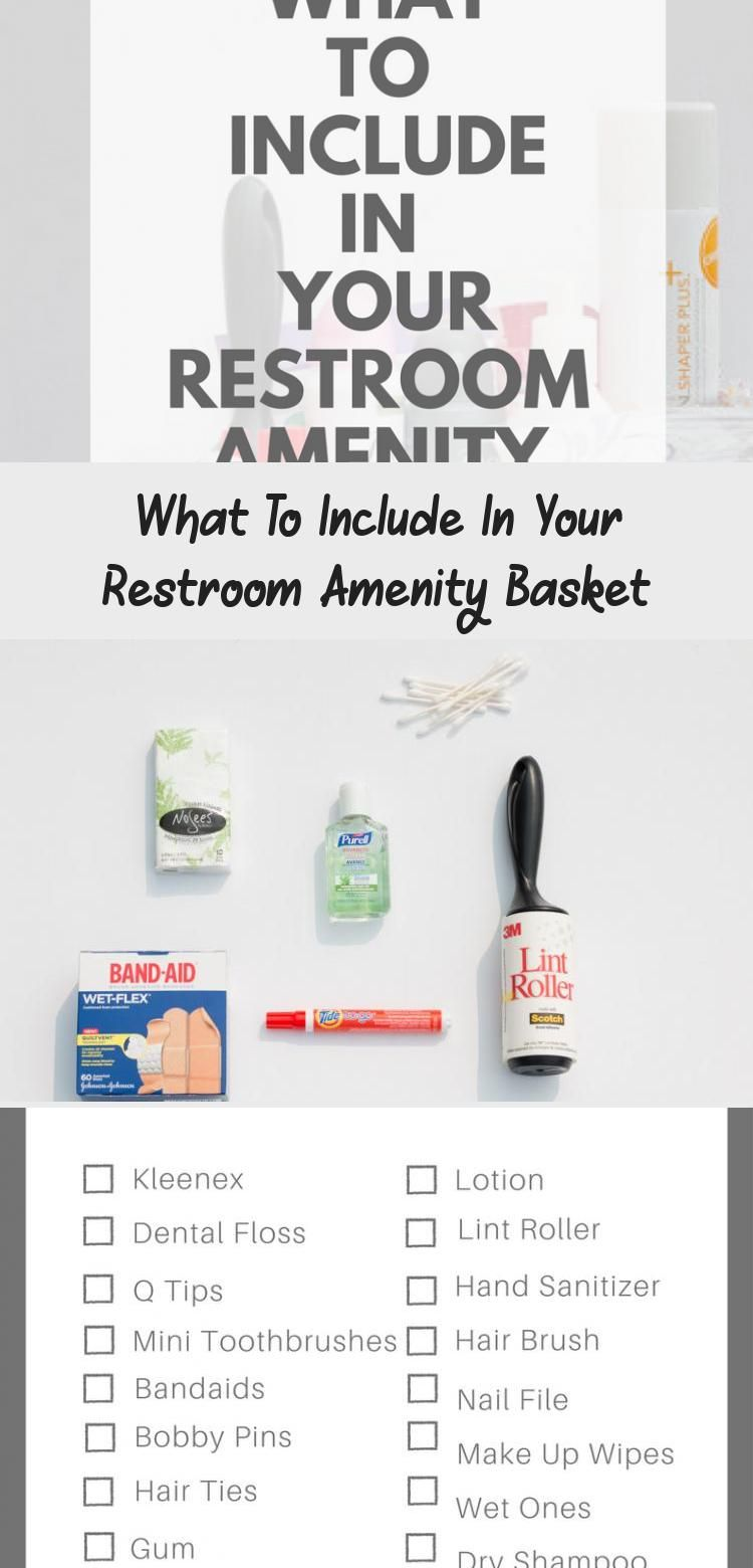 What To Include In Your Restroom Amenity Basket Wedding Details