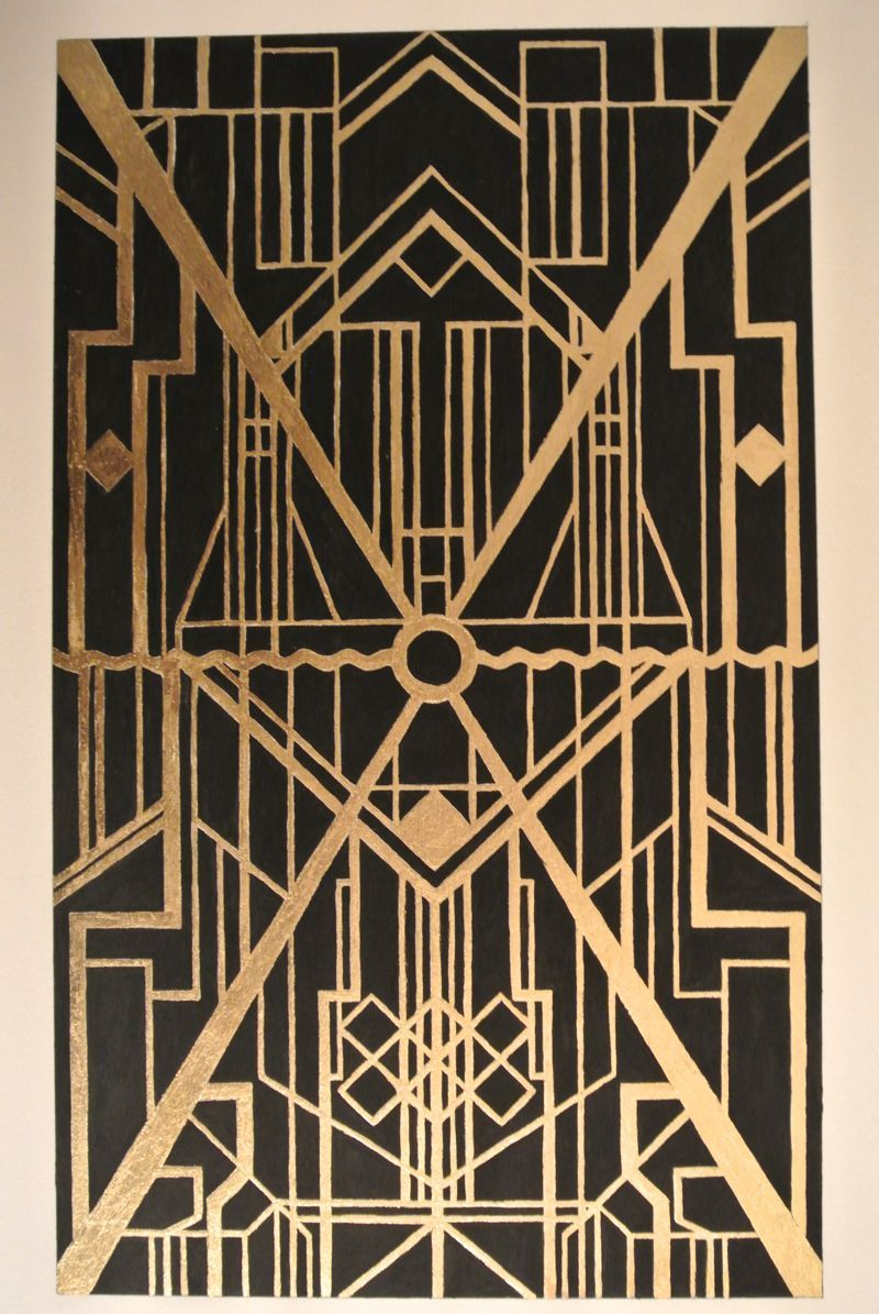 Gold Leaf With Black Paint Homage To Art Deco The Great Gatsby