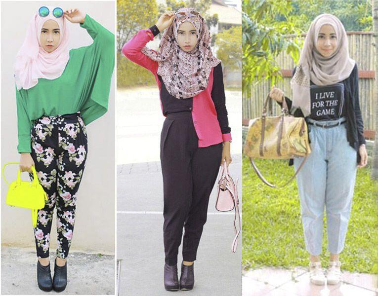 Model Baju Muslim Wanita Terbaru Paling Modis Dengan Paduan Celana Panjang Baju Muslim Wanita Muslim