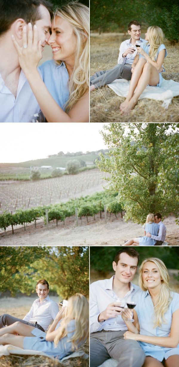 Napa Valley Engagement Session - Style Me Pretty