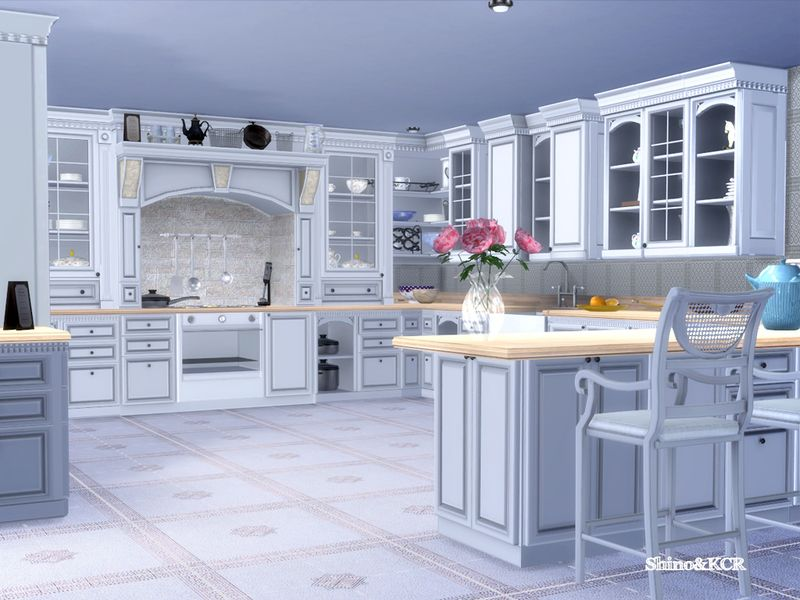 I Love This Elegant Kitchen Furniture Inspired By Clive Christian Also In A Rustical And Grunge Version F Sims 4 Kitchen Sims 4 House Design Sims House