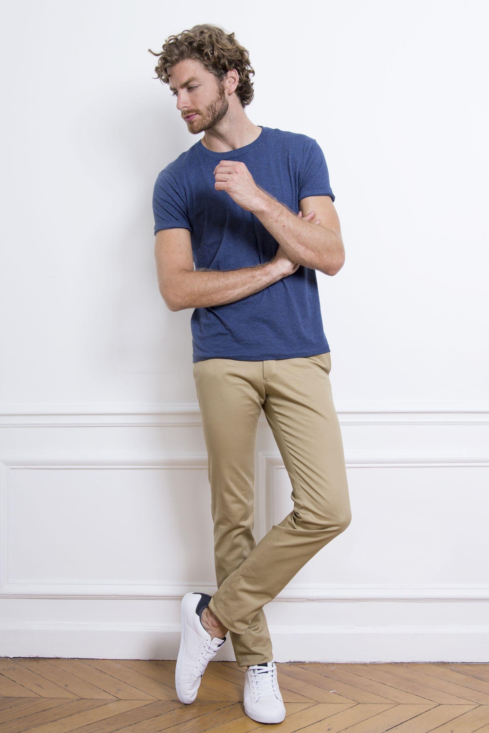 Pantalon chino beige | Vêtements homme, Mode