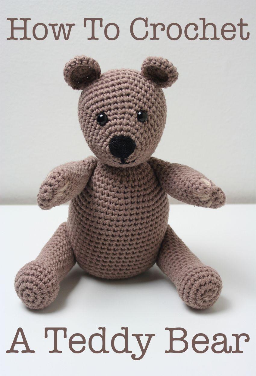 Free Crochet Teddy Bear Pattern | Pinterest | Crochet teddy bear ...