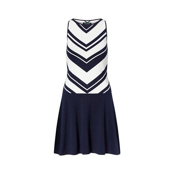 1a1364ee56 Ralph Lauren Lauren Chevron Sweater Dress ( 150) ❤ liked on Polyvore  featuring dresses