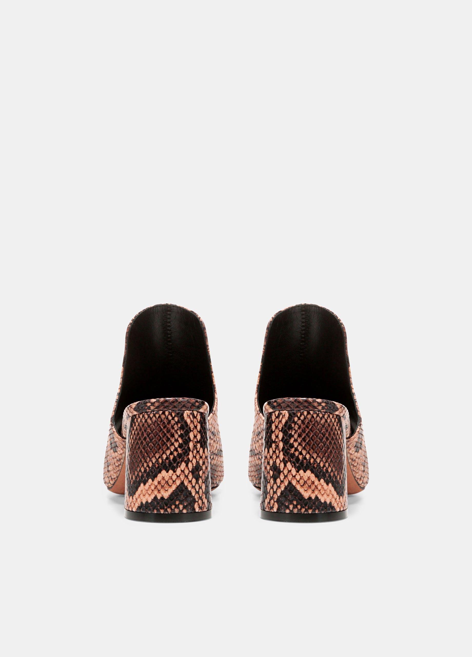 88a7d0d4ae4 Vince Tanay Snake-Print Leather Slides - Senegal 9.5