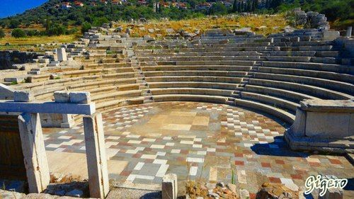 Ancient Messini - The Ecclesiasterion (Odeion) - late 3rd Century BCE