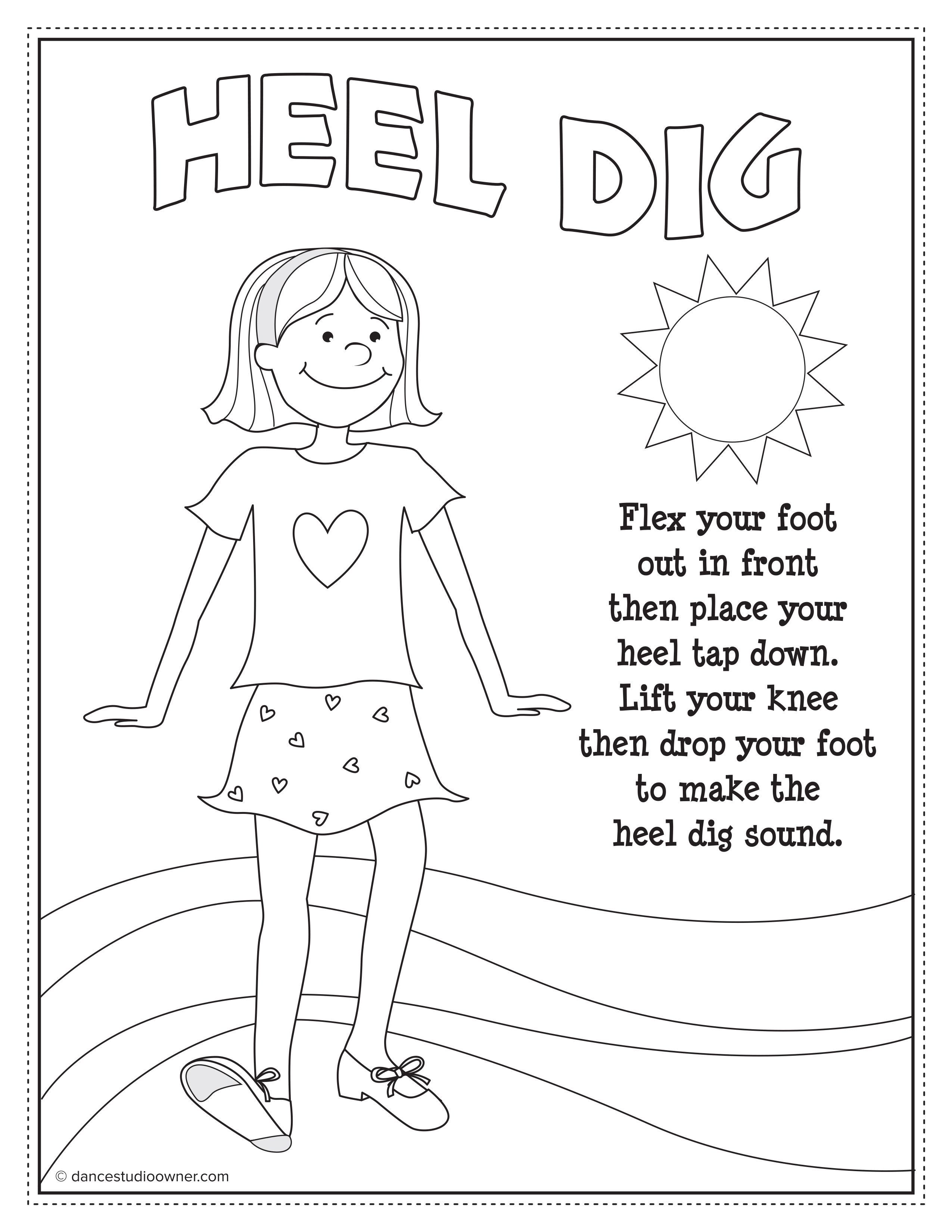 Free Tap Dancing Printable Coloring Pages From Dancestudioowner Com Dance Coloring Pages Dance Instruction Dance Crafts