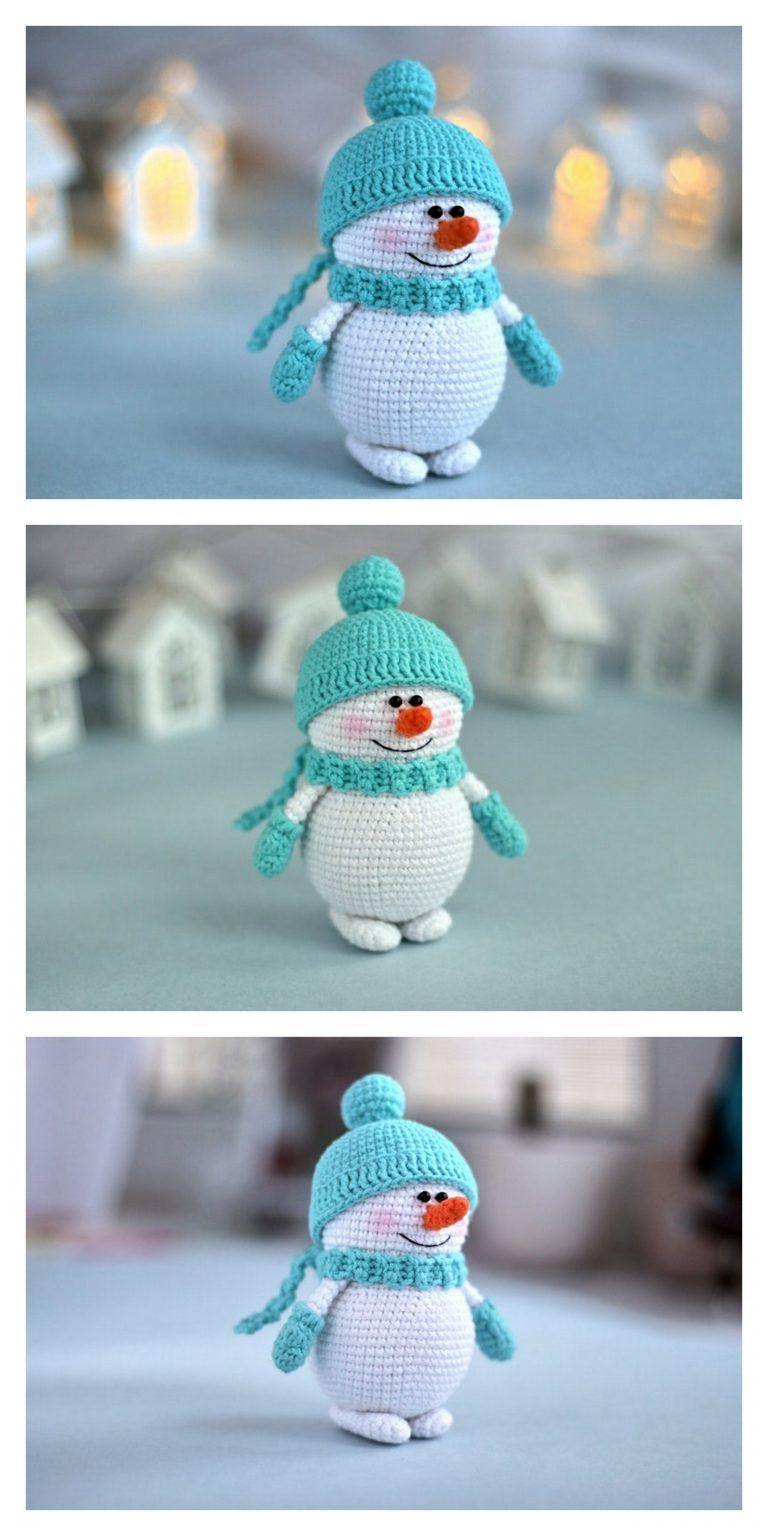 66 Free Crochet Snowman Patterns | AllFreeCrochet.com | 1536x768