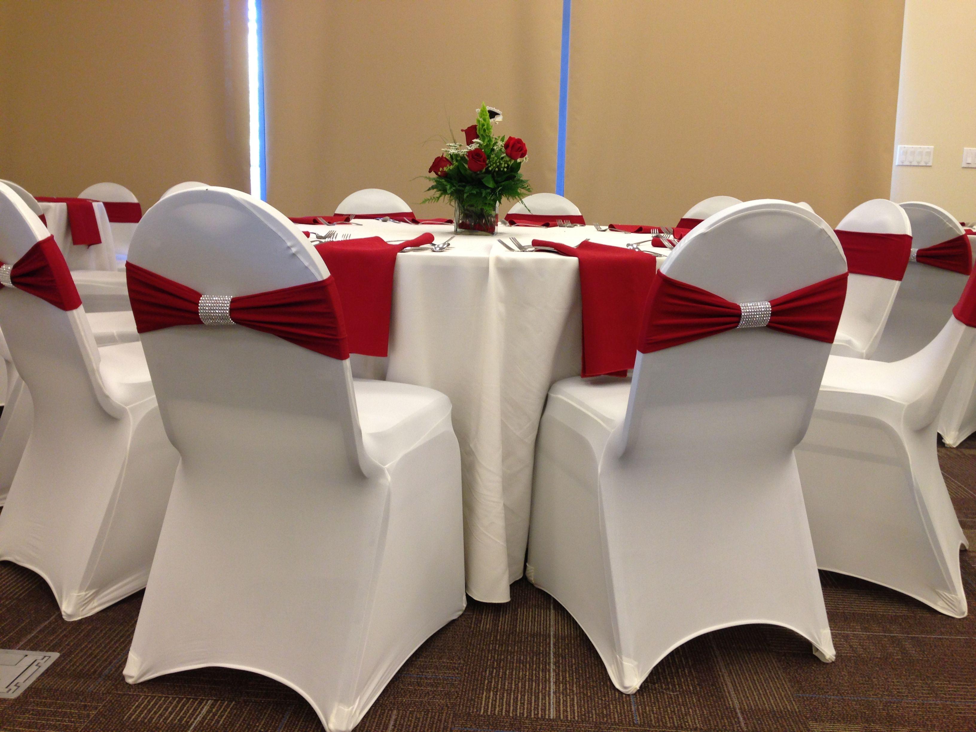 White Spandex Banquet Chair Cover Rent Banquet chair