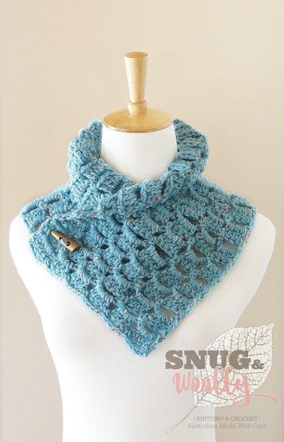 Crochet Button Cowl | Outlander Inspired | Neck Warmer | Colour ...