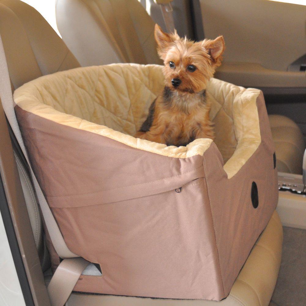 Bucket Booster Small Tan Pet Car Seat