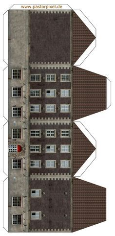 Pingl par laurent tassin sur templates paper building house pinterest maquette papier - Gabarit maison en carton ...