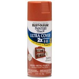 Rust Oleum Painters Touch 2x 12 Oz Satin Cinnamon General Purpose Spray Paint Rustoleum American Accent Blue Spray Paint