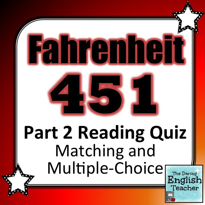 Fahrenheit 451 Part 2 Reading Quiz My TpT Store Teaching