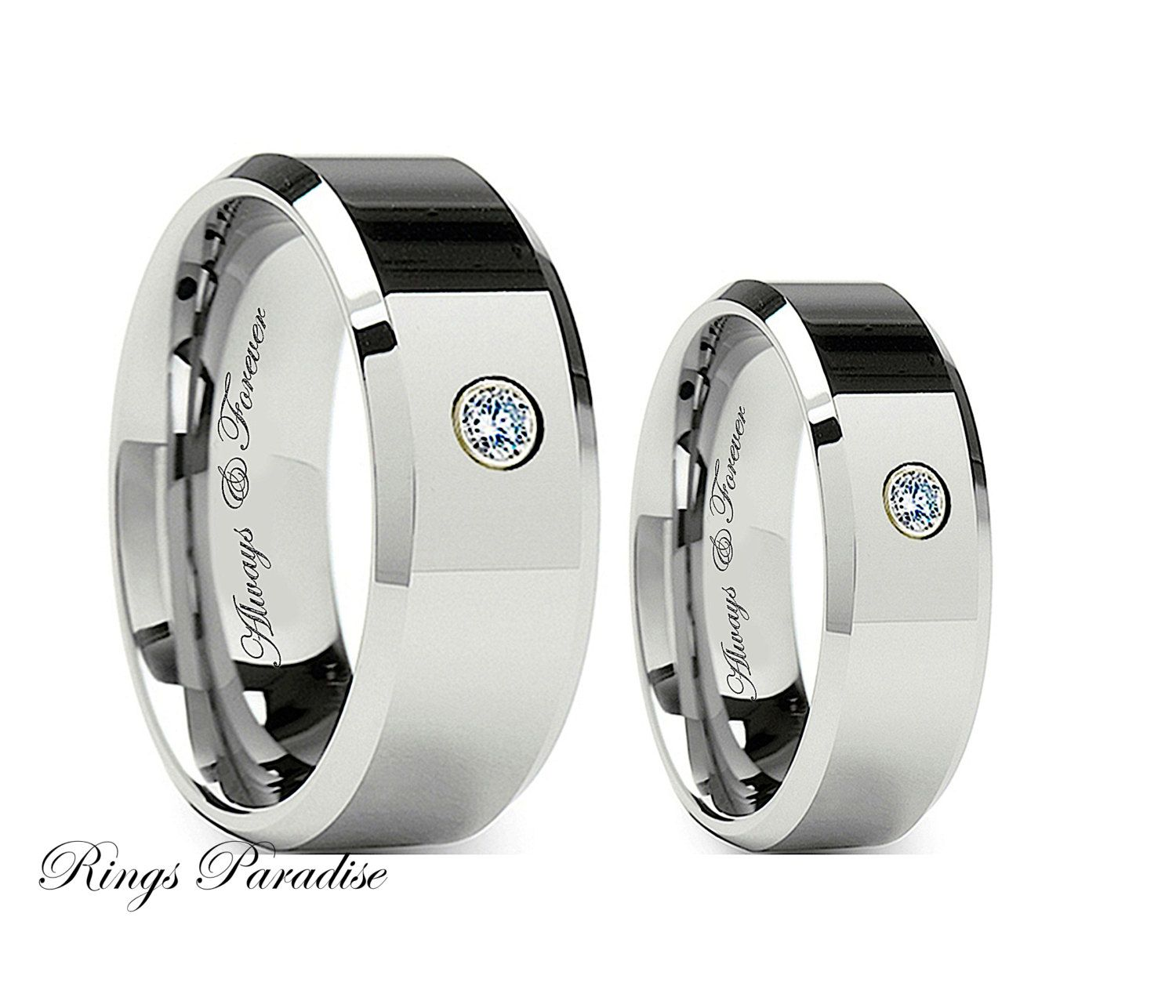 com bands band nature wood amazon ring will tungsten wedding dp comfort fit king finish high black polished carbide inlay