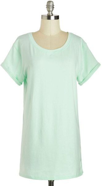 Simplicity On A Saturday Top in Mint - Lyst