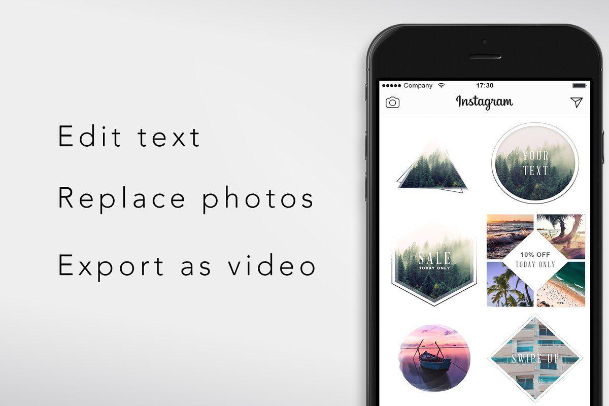 Ad Animated Instagram Posts Bundle by BranderDesigns on