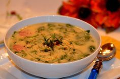 Portuguese Kale Soup (Caldo Verde) is served! - From Brazil To You