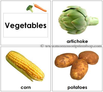 toddler vegetable cards printable montessori toddler materials for montessori learning at home and school