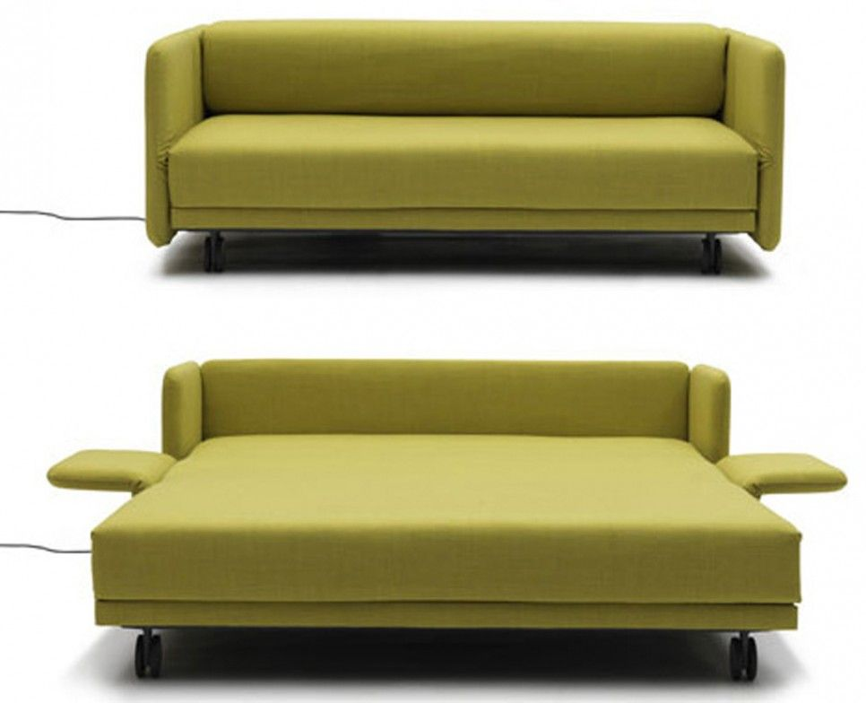 Furniture Maximizing Small Es Using Modern Sleeper Sofa Queen With Green Fabric Cover And Fold Out Bed Wheels Ideas