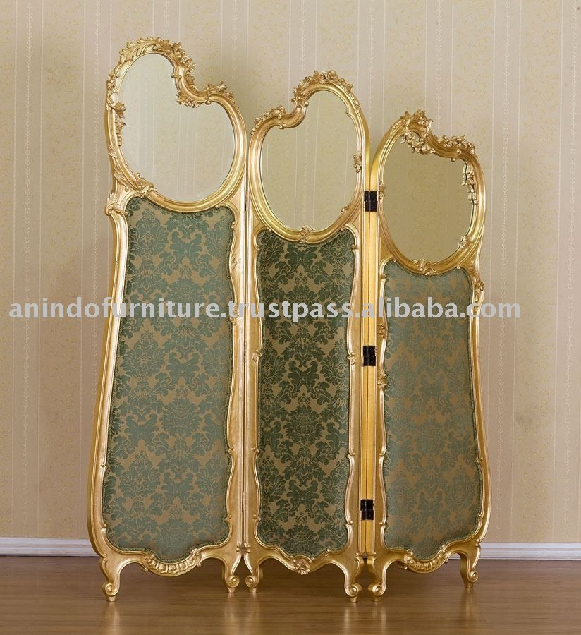 French Furniture Gold Gilt Room Divider With Mirror Buy French