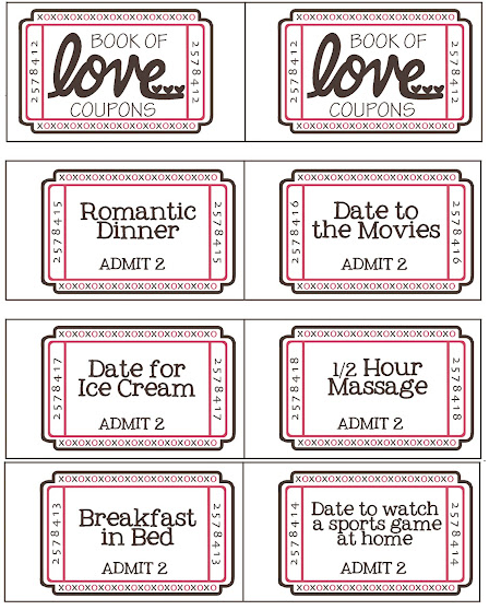 Valentines Day Coupon Book Printable At HttpWww