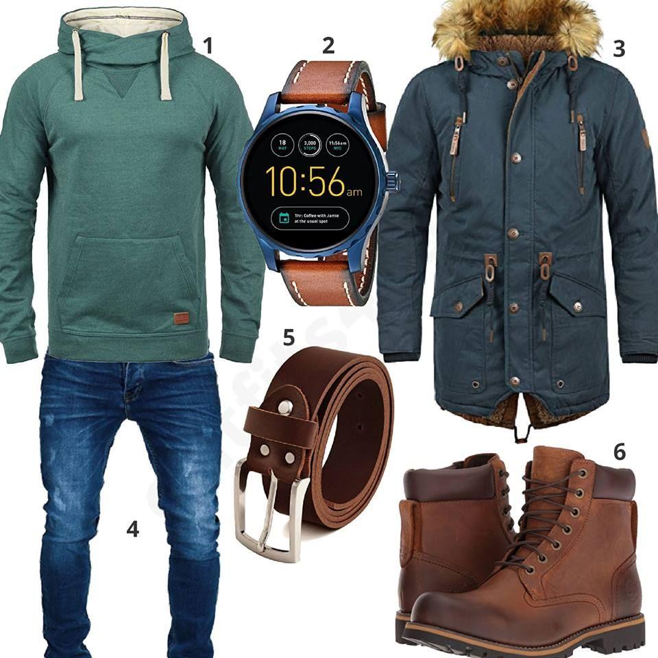 Winterstyle mit Hoodie und Strickmütze | Kleidung | Männer